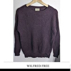 Aritzia Wilfred Free Isabelli purple sweater